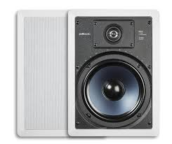 amazon com polk audio rc85i 2 way in wall speakers pair white