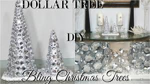 diy dollar tree glam christmas trees dollar store diy room decor