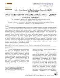 k che 24 herford antagonistic activity of marine actinobacteria a review pdf