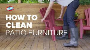 How To Clean Patio Chairs Clorox How To Clean Patio Furniture With Clorox Outdoor
