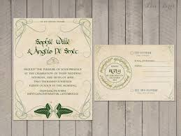 willow tree wedding invitations lord of the rings wedding invitations part one breecraft