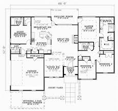 House Plans With 4 Bedrooms Tuscan Style House Plans 2075 Square Foot Home 1 Story 4