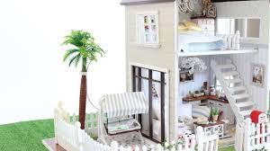 Modern Dollhouse Furniture Diy New Diy Dollhouse Paris Miniature Apartment For 1 32 Dolls Youtube