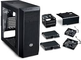 masterbox 5 black with meshflow front panel b2b cooler master