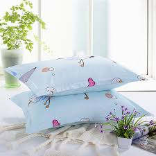 light blue pillow cases 1 piece light blue pillow case brief style home bedroom pillowcases