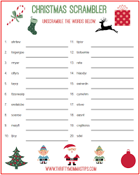 christmas scrambler free kids puzzle printables thrifty mommas tips