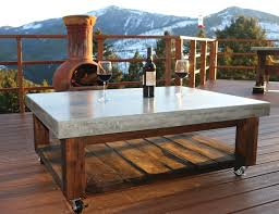 concrete top outdoor table ana white concrete top coffee table featuring diy pete diy projects