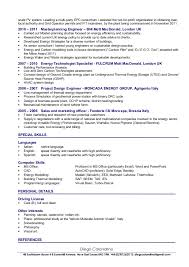 Mechanical Project Manager Resume Sample by Cv Of Diego Calandrino Renewable Energy Consultant U0026 Senior Project U2026