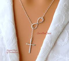 cross necklace with infinity images Infinity cross necklace sterling silver cross infinity jpg
