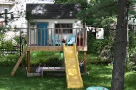 Backyard Playhouse Ideas White The Playhouse Project Diy Projects