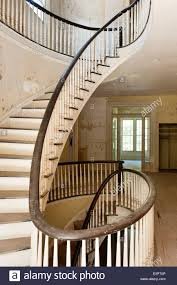 Stairs With Landing by First Floor Landing With Elliptical Staircase Of Empty House With