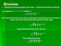 division methods ppt download