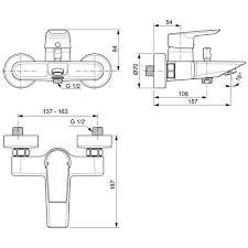 ideal standard tesi single lever exposed wall bath shower mixer tap ideal standard tesi single lever exposed wall mounted bath shower mixer tap