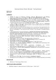 Qa Resume Sample Business Analyst Cover Letter Samples Choice Image Cover Letter