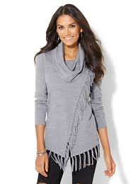 cowl sweater shop fringed cowl neck sweater find your size at
