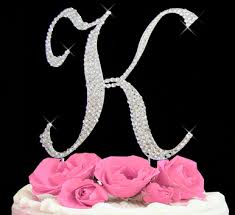 letter cake topper cake initial toppers letter cake topper k cake initial toppers