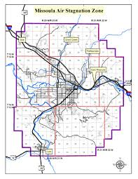 Map Of Missoula Montana by Missoula County Mt Missoula Air Stagnation Zone