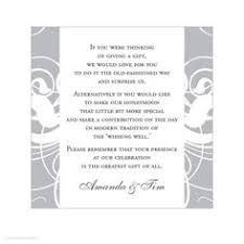 bridal registration wording for wedding invitations asking for money search