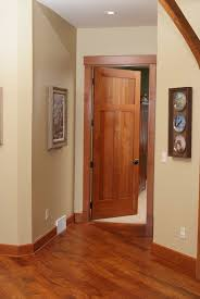 american cherry 3 panel shaker style interior door with