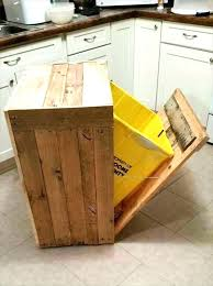 kitchen cabinet interior fittings kitchen garbage can storage stylish cabinet trash bin wooden with