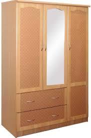 Door Armoire Amazon Com Hodedah Import 3 Door Wardrobe Beech Kitchen U0026 Dining