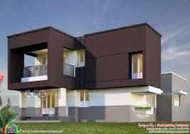 Kerala Home Design Thrissur by 1716 Square Feet Box Model Modern Home Kerala Home Design And