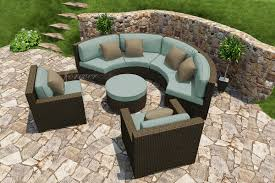 Curved Wicker Patio Furniture - forever patio collections hampton 5 piece hampton radius