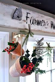 Christmas Decorations For Window Displays by A Natural Christmas Garland Window Valancefunky Junk Interiors