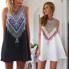 women summer dress beach mini dress sleeveless evening party short