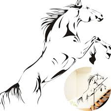 compare prices on stylish wall decoration online shopping buy low 1pcs medium size pvc material jumping horse wall stickers vinyl decal stylish home bedroom graphics
