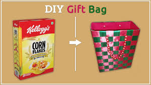diy gift bag how to make gift bag from cereals box best out of