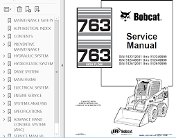 bobcat 763 763 high flow loaders service manual pdf repair