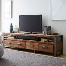 media cabinet with drawers bin pull 4 drawer media console 82 west elm