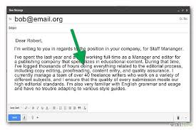 bunch ideas of how to write a cover letter by email for your cover