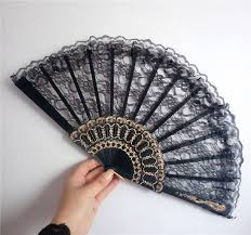 lace fans online get cheap black fan lace lot aliexpress alibaba