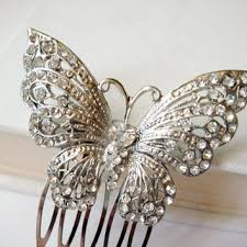 vintage hair combs shop vintage butterfly hair comb on wanelo