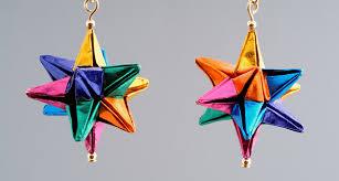 origami earrings rainbow earrings the paper crane origami