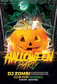 Halloween Party Flyer Template Photoshop Awesomeflyer Com