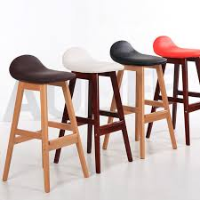 Modern Wood Bar Stool Vintage Wood Bar Stool Dining Chair Counter Height Kitchen