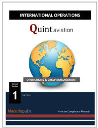 international operations manual flight operations