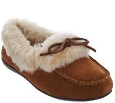 vionic orthotic slipper moccasins juniper page 1 u2014 qvc com