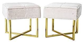 196039s brass x base stool banquettes benches stools amp ottomans