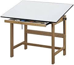 Alvin Elite Drafting Table Alvin Wtb48 Titan Solid Oak Drafting Table