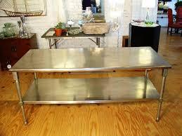 metal top kitchen lovely metal kitchen island fresh home design