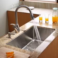 kitchen cool black stainless steel undermounted bar sink good