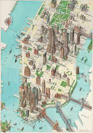 map of manhattan 3d manhattan new york map on behance