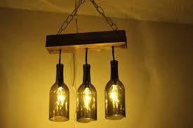interesting wine bottle light fixture chandelier wonderful home