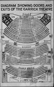 Movie Theater Floor Plan Garrick Theatre Detroit Mi