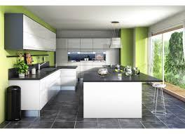 donne meuble de cuisine cuisine vert greenery mur peinture ouverte sur le jardin meuble
