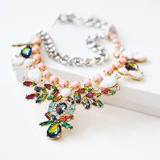 multi colored stones necklace images Mixed stone bib necklace collar necklace with multi colored jpg